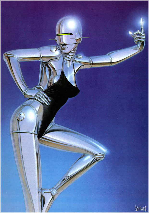 30 Sexy Robot Oil Paintings by Hajime Sorayama - Modern and Metallic